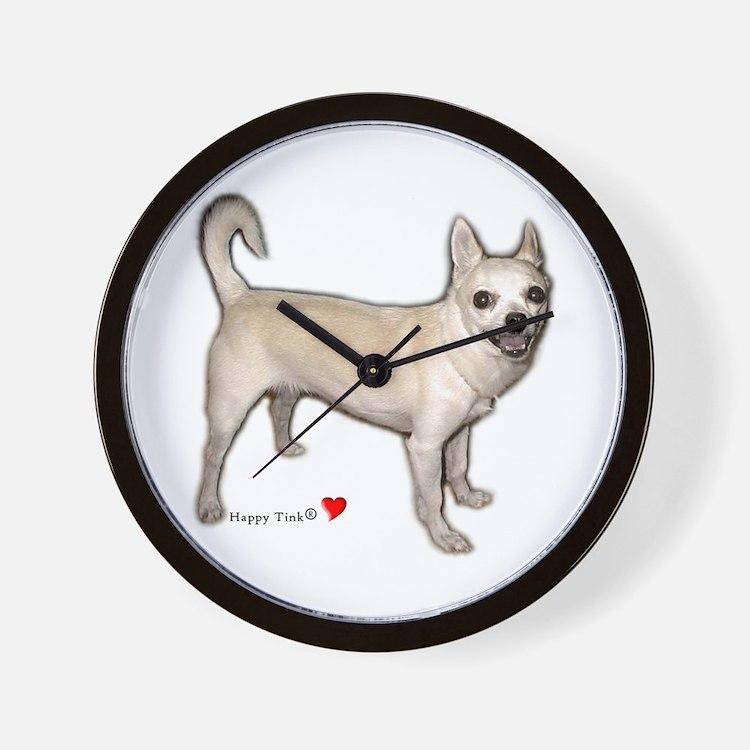 Cute Heart Chihuahua Wall Clock