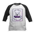 English Bulldog Puppy Kids Baseball Jersey