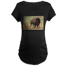 American buffalo Maternity T-Shirt