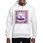 Bulldog puppy with flowers Hooded Sweatshirt
