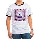 Bulldog puppy with flowers Ringer T