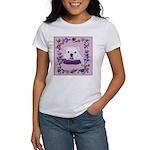 Bulldog puppy with flowers Women's T-Shirt