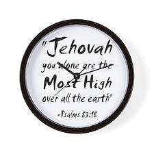 Psalms 83:18 Wall Clock