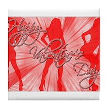 Valentine's Day V1 Tile Coaster