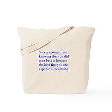 success-bod-blue Tote Bag