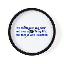 Ive-failed-akz-blue Wall Clock