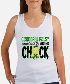 Cerebral Palsy Messed With Wrong Chick Women's Tan