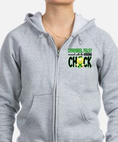Cerebral Palsy Messed With Wrong Chick Zip Hoodie