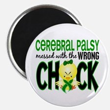 """Cerebral Palsy Messed With Wrong Chick 2.25"""" Magne"""