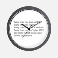 every-time-you-stay-akz-gray Wall Clock