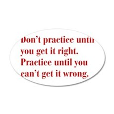 dont-practice-bod-red Wall Decal