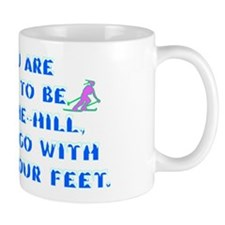 Over the Hill on Skis Mug