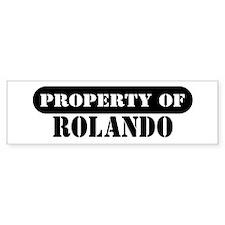 Property of Rolando Bumper Bumper Sticker