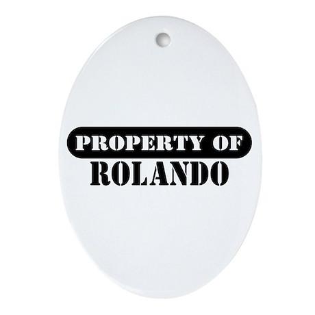 Property of Rolando Oval Ornament