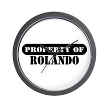Property of Rolando Wall Clock