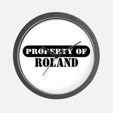 Property of Roland Wall Clock