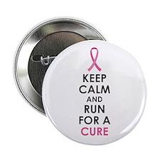 """BCA Keep Calm Run Cure 2.25"""" Button"""
