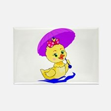 Pretty Ducky Rectangle Magnet