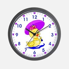 Pretty Ducky Wall Clock