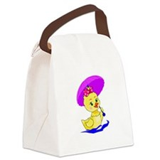 Pretty Ducky Canvas Lunch Bag