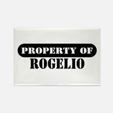 Property of Rogelio Rectangle Magnet