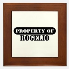 Property of Rogelio Framed Tile