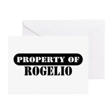 Property of Rogelio Greeting Cards (Pk of 10)