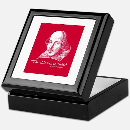 Shakespeare, this shit writes itself Keepsake Box