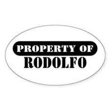 Property of Rodolfo Oval Decal