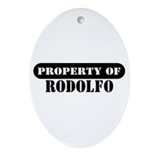 Property of Rodolfo Oval Ornament