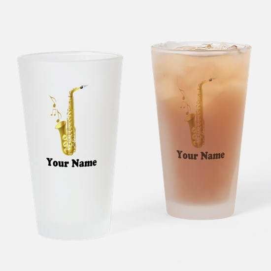 Saxophone Personalized Drinking Glass