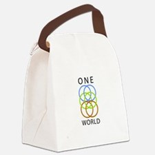 One World Canvas Lunch Bag