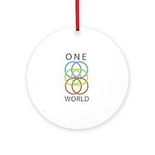 One World Round Ornament