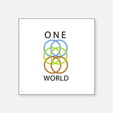 "One World Square Sticker 3"" x 3"""