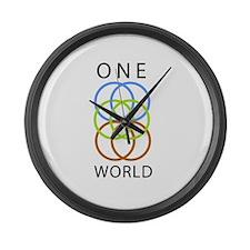 One World Large Wall Clock