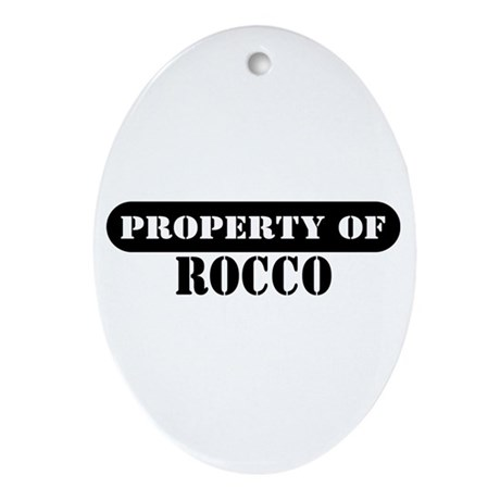 Property of Rocco Oval Ornament