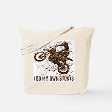 Motorcycle, Dirt Bike Stunts Tote Bag