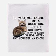 Ask The Kitten With A Mustache A Question Throw Bl