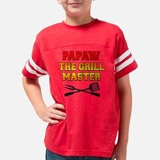 Papaw The Grill Master Drinkw Youth Football Shirt