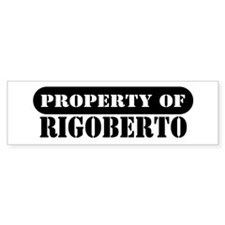 Property of Rigoberto Bumper Car Sticker