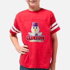 RedClintonHuggableVotingChick Youth Football Shirt