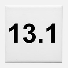 Half Marathon 13.1 Tile Coaster