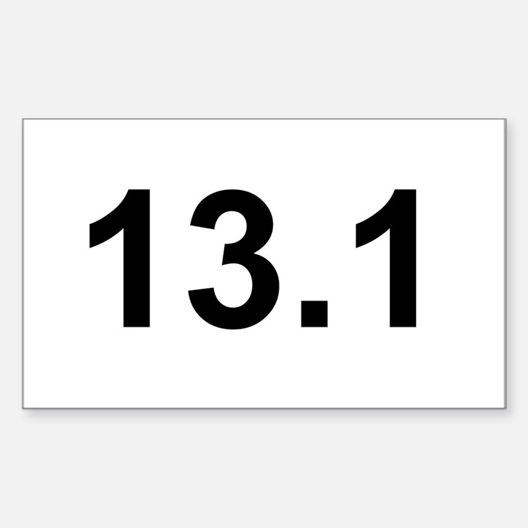Half Marathon 13.1 Rectangle Decal