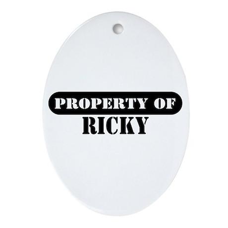 Property of Ricky Oval Ornament