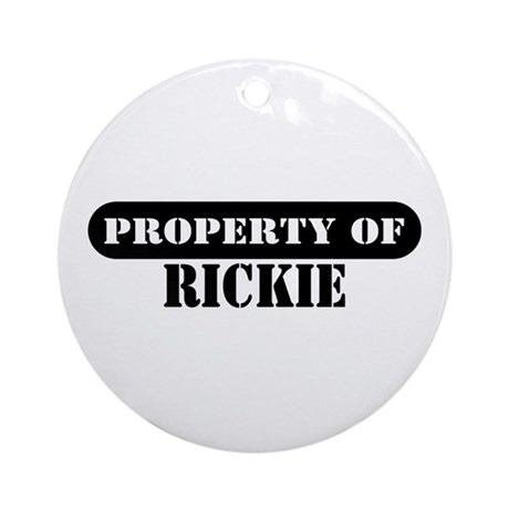 Property of Rickie Ornament (Round)
