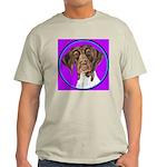 German Shorthair Pointer Head Ash Grey T-Shirt