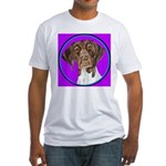 German Shorthair Pointer Head Fitted T-Shirt