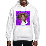 German Shorthair Pointer Head Hooded Sweatshirt