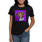 German Shorthair Pointer Head Women's Dark T-Shirt