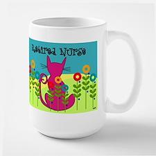 Whimsical Cat Art Large Mug